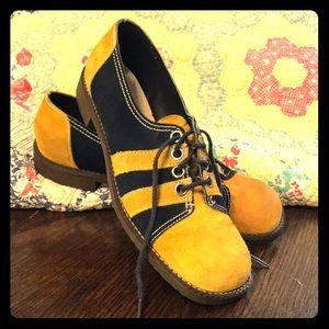 Vintage Mod Shoes Oxfords 1960s 60's Retro Lace Up